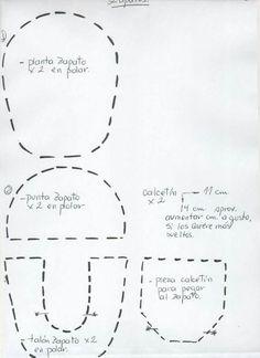 Molde zapatito muñecas Porta Papel higienico