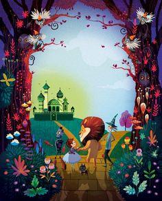 "Lorena Alvarez Gómez, illustration for ""The Wonderful Wizard of Oz"" Art And Illustration, Illustration Mignonne, Arte Sketchbook, Animation, Wizard Of Oz, Illustrators, Fairy Tales, Concept Art, Art Drawings"