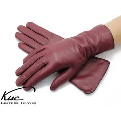 Trendy and warm women's leather gloves, burgundy leather gloves (3,495 INR) ❤ liked on Polyvore featuring accessories, gloves, leather gloves, burgundy leather gloves, real leather gloves and burgundy gloves