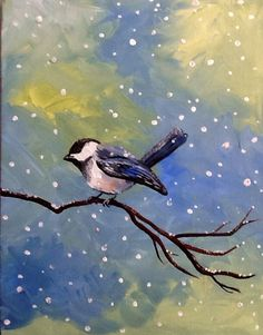 Acrylic and glitter on canvas by Natalee Ozbirn