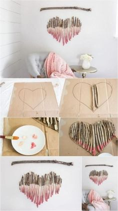 How to Make an Interesting Art Piece Using Tree Branches DIY Fun fun and easy diy crafts to do at home - Fun Diy Crafts Fun Diy Crafts, Decor Crafts, Baby Crafts, Kids Crafts, Stick Crafts, Fun Crafts For Teens, Diy Wand, Tree Branch Crafts, Tree Branches