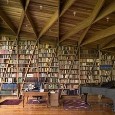 If only I had enough books to decorate an entire wall in them...