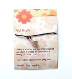 LADYBUGWish braceletSilver charm by LaBottegaDiViviana on Etsy, €2.30