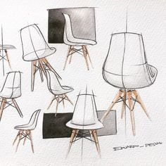 Watercolor test. Really like this chair and didn't know what else to sketch.. #eames #eameschair #eamesdsw #productdesign #chair #design #designer #designinspiration #designs #render #watercolor #watercolorpainting #sketch #sketchbook #sketches #inspiration #productdesigner