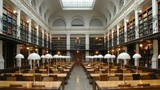 century main reading room of Graz University Library, with second floor gallery and bookshelves, Austria Library Card, Library Of Congress, Library Books, Library Programs, Library Pictures, Graz Austria, Beautiful Library, World's Most Beautiful, Beautiful Things