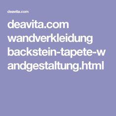 deavita.com wandverkleidung backstein-tapete-wandgestaltung.html