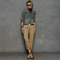Officer s Chino - Enhanced Zoom Polo Lauren, Casual Wear Women, Fashion  Books, Love 360d5705aaf5