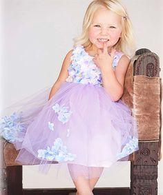 This Lavender & Blue Fleur Dress - Toddler & Girls is perfect! #zulilyfinds