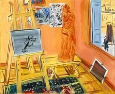 "Raoul Dufy (French, 1877-1953), ""The Studio,""  about 1942; Indianapolis Museum of Art, 70.77; © Artists Rights Society (ARS), New York/ADAGP, Paris"