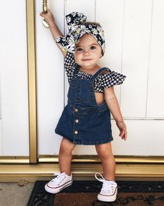 25 Gorgeous Baby Girl Names That Suit Any Personality - Maeci Bychurch - Kind mode - Baby Clothes Baby Girl Fashion, Toddler Fashion, Fashion Kids, Babies Fashion, School Fashion, Fashion Fall, Fashion 2017, Trendy Fashion, Young Fashion