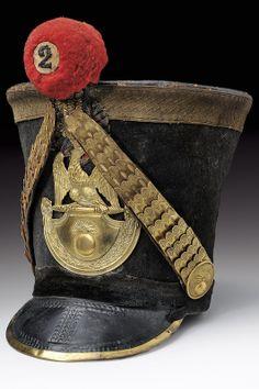 A rare infantry officer's shako for an assembled grenadier's battalion, France 1812.