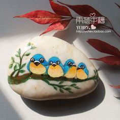 painted stones birds - Google Search