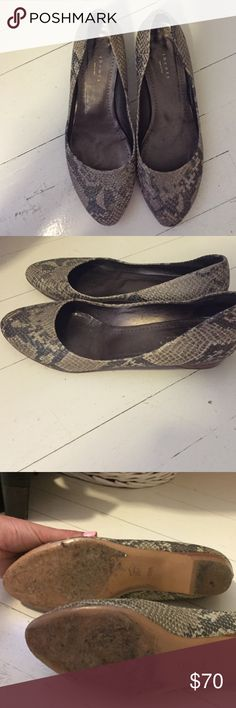 Theory snakeskin ballet flats Good condition! Theory Shoes Flats & Loafers