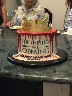 [homemade] My sister made me a birthday cake! Game of Thrones inspired!