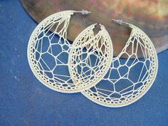 The Wonderful World of Hand Crafted: Handmade Crochet Earrings are so Stunning