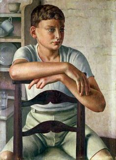'Young Roman' (1928-29) by English painter Dod Procter (1892-1972). Oil on canvas, 79 x 57.4 cm. via BBC