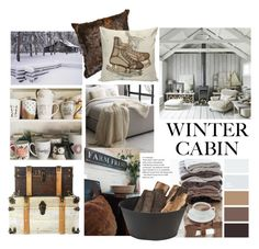 """cozy cabin"" by theworldisatourfeet ❤ liked on Polyvore featuring interior, interiors, interior design, home, home decor, interior decorating, West Elm, cabinstyle and wintercabin"