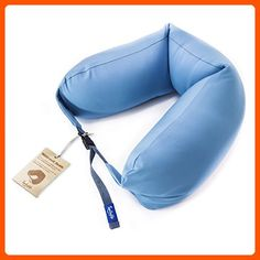 Neck Pillow for Sleeping With Microbeads And Polyester Strap By Smileylife. Cozy, Easy To Carry, Hypoallergic & Washable Cover. Find Out Your Best Buddy Now By Purchasing This Travel Pillow - Dont forget to travel (*Amazon Partner-Link)