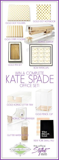 Win A Complete Kate Spade Office Accessory Set ($240 Value) {CLOSED