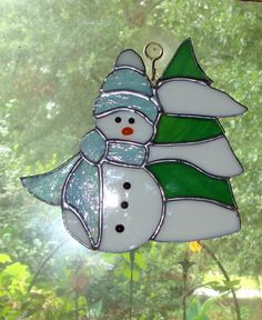84 Best Stained Glass Snowmen Images In 2019 Stained