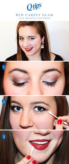 Use Q-tips to get red-carpet ready in a snap with @kellydonlin's guide to glam! 1. Create dimension using shimmery neutrals. 2. Extend black eyeliner with a Q-tips Precision Tip. 3. Perfect that celebrity pout and pucker up to the paparazzi!