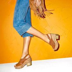 Peep Toe Cork Wedge Sandals from @NineWest available with #free2dayshipping for @shoprunner members