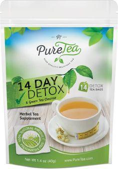PureTea® Weight Loss Tea: Green Tea Detox, Skinny Tea, Body Cleanse, Herbal Tea Detox Diet, Teatox, 100% Organic Herbs, Lose Weight…