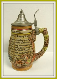Vintage Anheuser Busch America's Bicentennial Commorative Beer Stein made in Brazil by Ceramarte Collectible Patriotic Mancave by WallflowerAntiques on Etsy