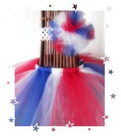 4th of July tutu with matching headband