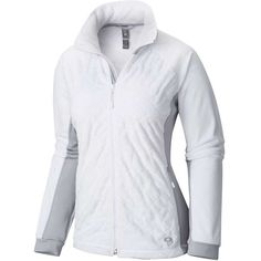 Mountain Hardwear Women's Pyxis Stretch Quilted Jacket featuring polyvore, women's fashion, clothing, outerwear, jackets, quilted jacket, fleece jacket, mountain hardwear jacket, diamond quilted jacket and mountain hardwear