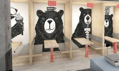 YoggieBerrie by Terry Design Mural Art, Wall Murals, Pop Art Food, Ice Shop, Frozen Yogurt Shop, Cozy Cafe, Cartoon Wall, Wall Bar, Wall Treatments