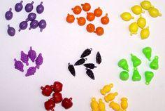 Fruit Beads - Small Variety - 1 Dozen  www.bergerbeads.net  $2.00