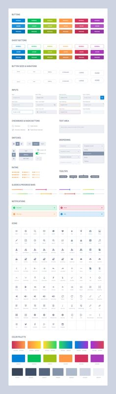 Grade UI Kit: Basic Elements Light.   #UI #UserInterface #UX #UserExperience #Photoshop #Sketch #Design #UIKit #Stylesheet