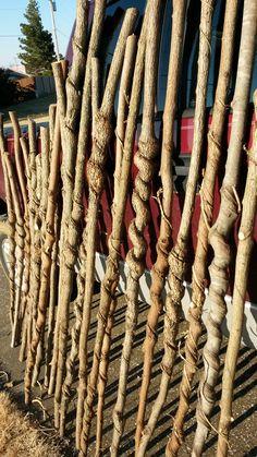 Good day searching for vine curled sticks. Wooden Walking Canes, Wooden Canes, Wooden Walking Sticks, Walking Sticks And Canes, Wood Carving Patterns, Wood Carving Art, Blackthorn Walking Stick, Handmade Walking Sticks, Spirit Sticks