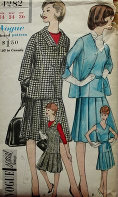 1960s One Piece Dress and Jacket Size 14 by BluetreeSewingStudio, $15.00