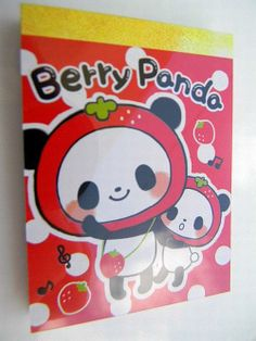 Berry Panda Mini Memo Pad