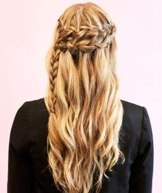 Double waterfall braid tutorial ~ I will do this with my mermaid hair! Cool Braid Hairstyles, Braided Hairstyles Tutorials, Pretty Hairstyles, Braid Tutorials, Style Hairstyle, Wedding Hairstyles, Bridesmaids Hairstyles, Hairstyle Braid, Beautiful Haircuts