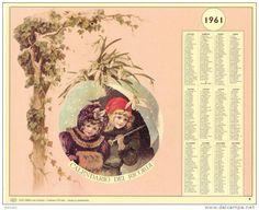 Calendario dei ricordi anno 1961