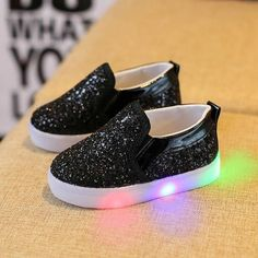 Slip-On  N  Be Dazzled Toddler Kids LED Luminous Shoes. Light Up SneakersLight  Up ShoesKids SneakersBoys ... 40279592f37e