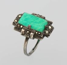 Antique Jewelry, Vintage Jewelry, Marcasite Jewelry, Green Rings, Rare Gems, Art Deco Ring, Personalized Jewelry, Turquoise Bracelet, Jewelry Making