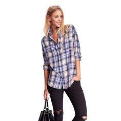 3 отметок «Нравится», 2 комментариев — Branded Fashion/ SEEN Galeries (@millenia_id) в Instagram: «~NEW ARRIVAL ~  Boyfriend Fit Flannel Plaid Shirt - Multi Blue  #millenia_id #milleniafashion…»