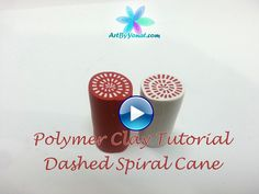 Polymer Clay Tutorial - How to Make a Dashed Spiral Cane - Lesson #10 | by Yonat Dascalu