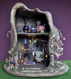 Tutorial: Fairy House Treehouse  - FABULOUS 16-part tutorial.