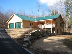 A simple Ward Cedar log home exterior