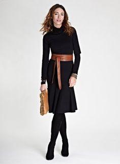 Maryna Kick Dress   Dress   Baukjen #baukjenaw12 - tan obi belt