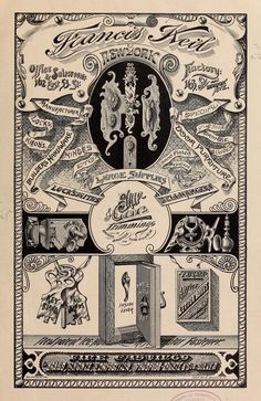 Vintage Catalogue for Francis Kiel of New York for 1889 Bellhangers and Locksmiths supplies   by CharmaineZoe's Marvelous Melange