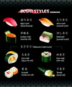 Sushi by sahua d, via Behance