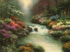 Thomas Kinkade - Beside Still Waters