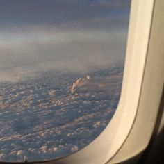Ontake Eruption from a plane over Japan