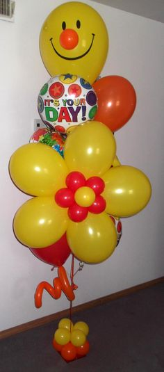 It's your day small balloon bouquet with flower $94 same day delivery Dallas, TX by http://www.balloonsandmoregifts.com/balloon-bouquets/ like us on Facebook https://www.facebook.com/balloonsandmoregifts